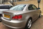 2008 BMW 125i SE Coupe Petrol 3.0L 6spd Manual